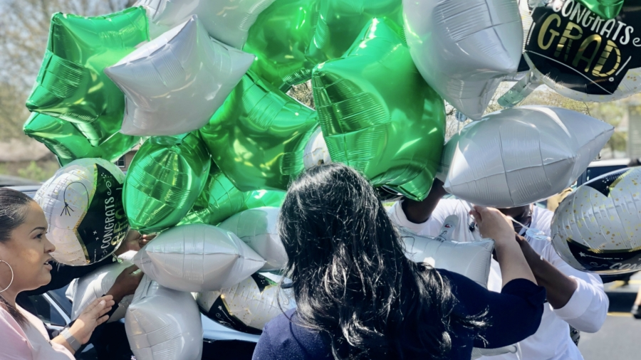 Balloons for Bryanna Williams' birthday parade on May 2, 2020.