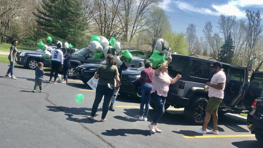 A photo of Bryanna Williams' parade for her college graduation on May 2, 2020.