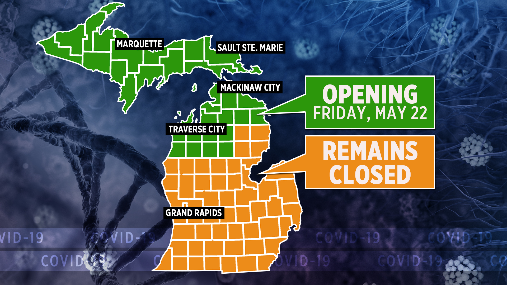 Restaurants Open Christmas Eve 2020 Detroit Mi Whitmer: Restaurants, shops can open in northern Michigan | WOODTV.com