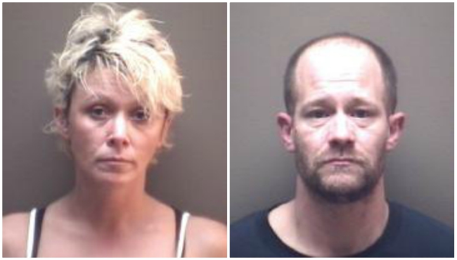 Undated booking photos of Terri Lorene Vantuinen and Eric James Morgan.