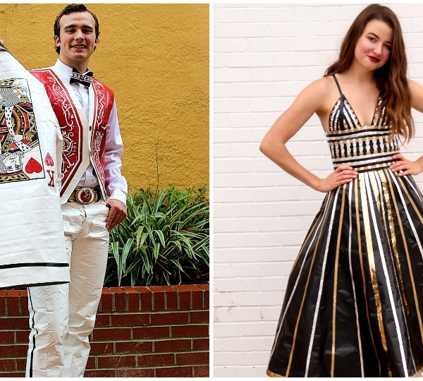 "Courtesy photos of the 2019 winners of the ""Stuck at Prom"" scholarship winners. Left is Cameron Castles and right is Maya Ramirez."