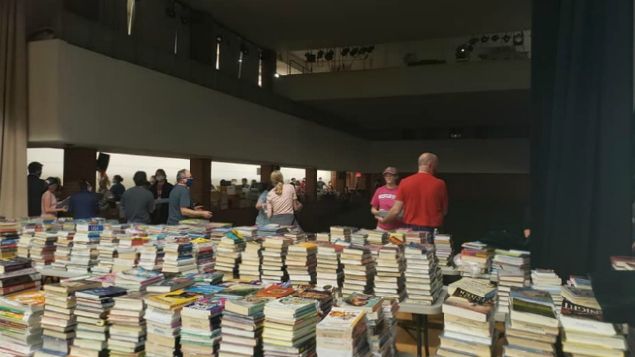 National Guard rescues books in Midland library