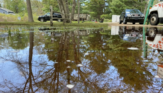 Flooding at Mike Siroky home in North Muskegon on May 23, 2020.