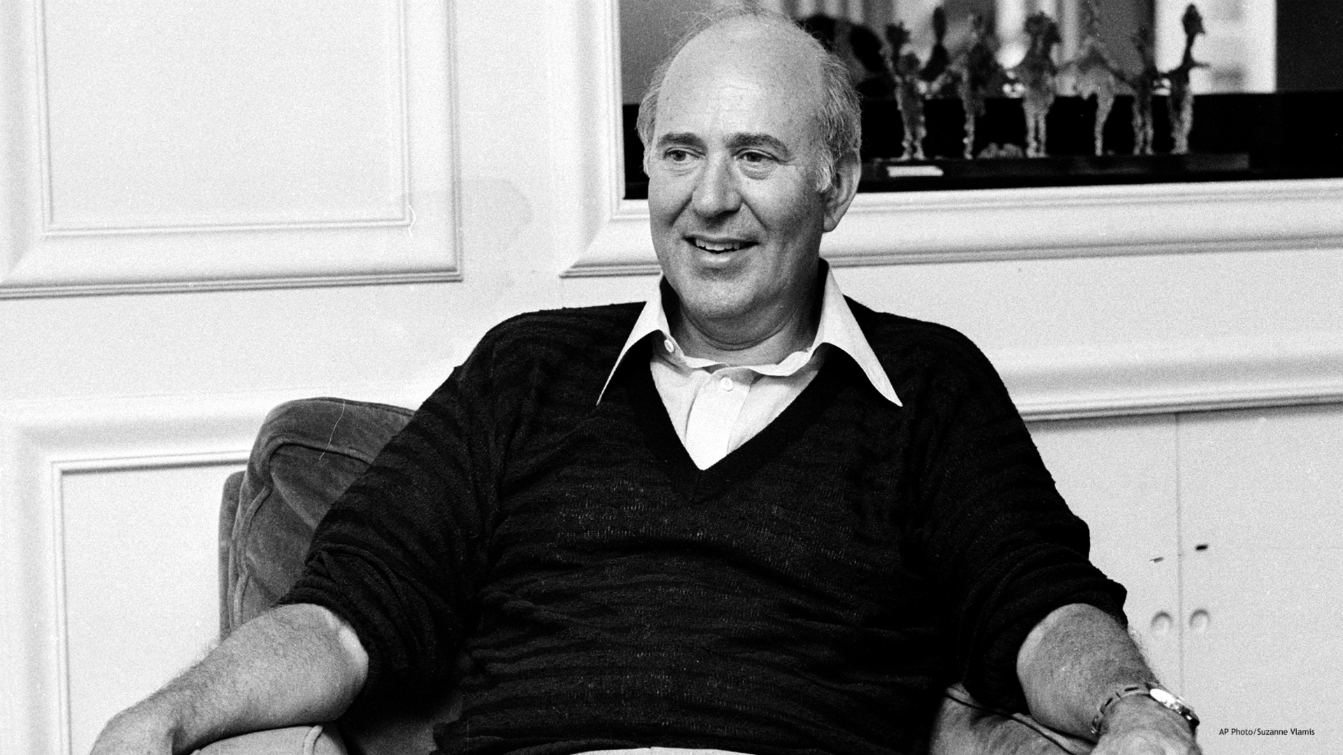"""In this Oct. 3, 1977 file photo, writer-director Carl Reiner appears during an interview about his movie """" Oh God!"""" in New York. Reiner, the ingenious and versatile writer, actor and director who broke through as a """"second banana"""" to Sid Caesar and rose to comedy's front ranks as creator of """"The Dick Van Dyke Show"""" and straight man to Mel Brooks' """"2000 Year Old Man,"""" has died, according to reports. Variety reported he died of natural causes on Monday night, June 29, 2020, at his home in Beverly Hills, Calif. He was 98. (AP Photo/Suzanne Vlamis)"""