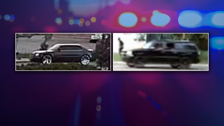 Photos of cars seen in a rolling shooting in Kalamazoo on June 24, 2020. (Courtesy of the Kalamazoo Department of Public Safety)