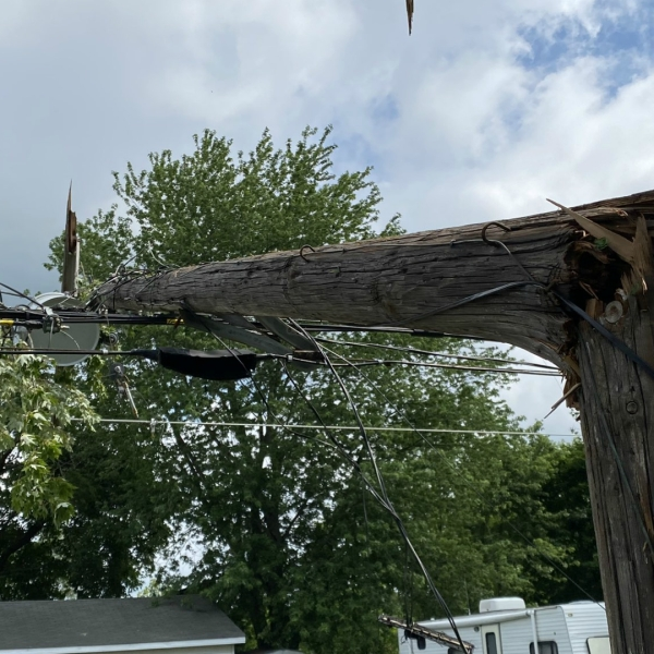 Damage after a storm ripped through Lawrence Township in Van Buren County. (June 27, 2020)