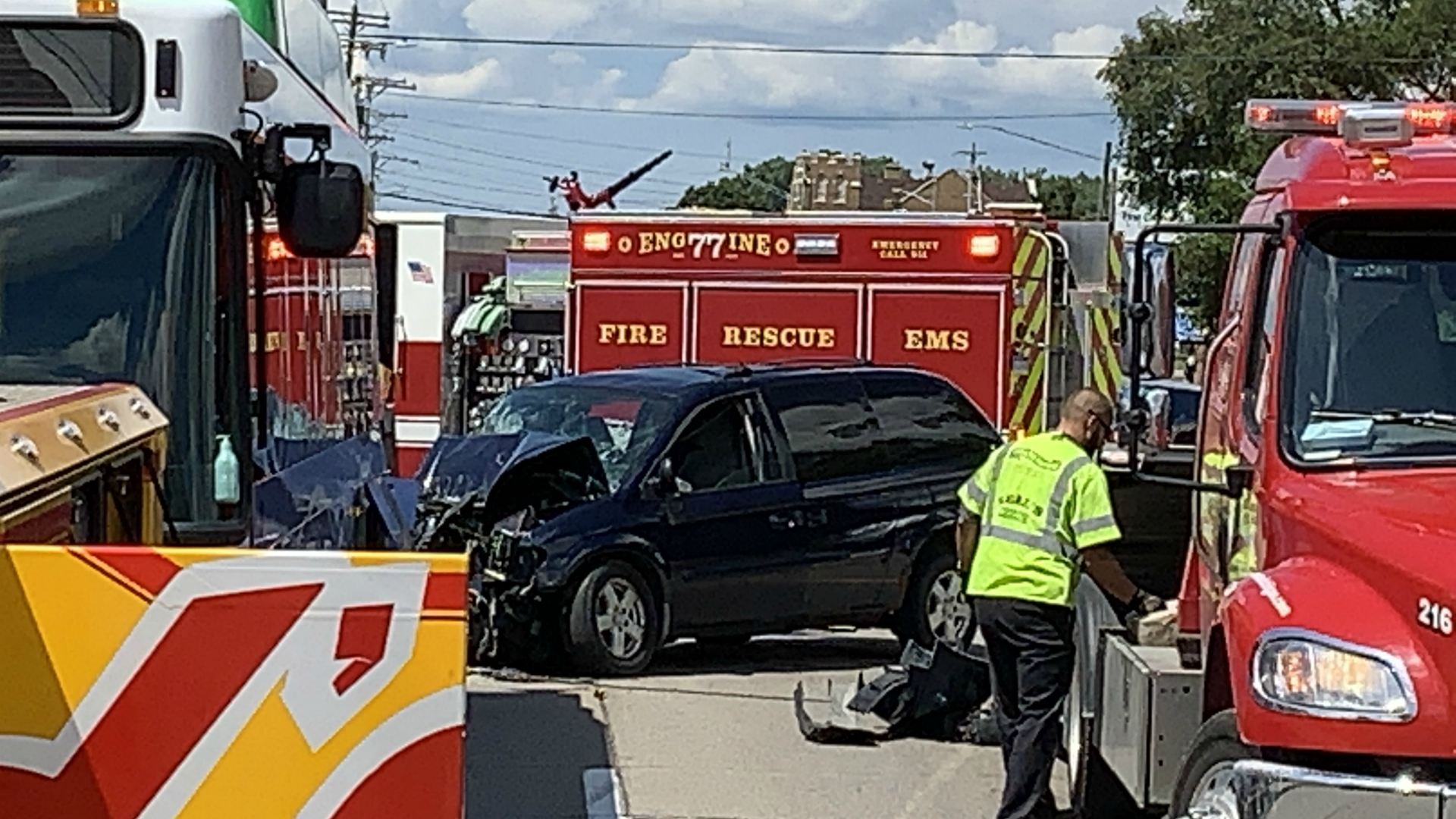 Halloween 2020 Bus Crash Minor injuries after crash involving bus in Wyoming | WOODTV.com