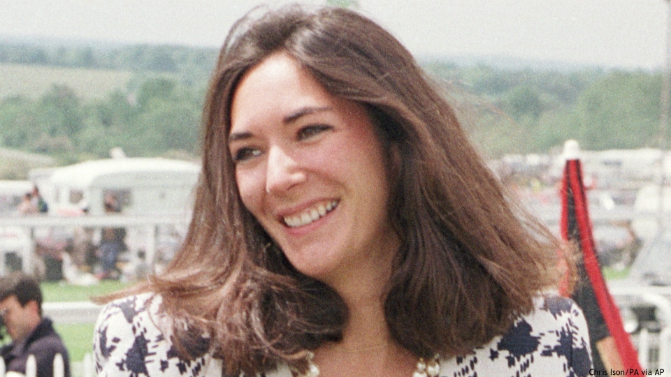 In this June 5, 1991 file photo, British socialite Ghislaine Maxwell arrives at Epsom Racecourse. Jeffrey Epstein's former girlfriend will face a judge and at least one of her accusers by video at a hearing to determine whether she stays behind bars until trial on charges she recruited girls for the financier to sexually abuse a quarter-century before he killed himself in a Manhattan jail. The hearing Tuesday, July 14, 2020, in Manhattan federal court was expected to feature a not guilty plea by Maxwell along with arguments over whether she'll flee if she's released. (Chris Ison/PA via AP, File)