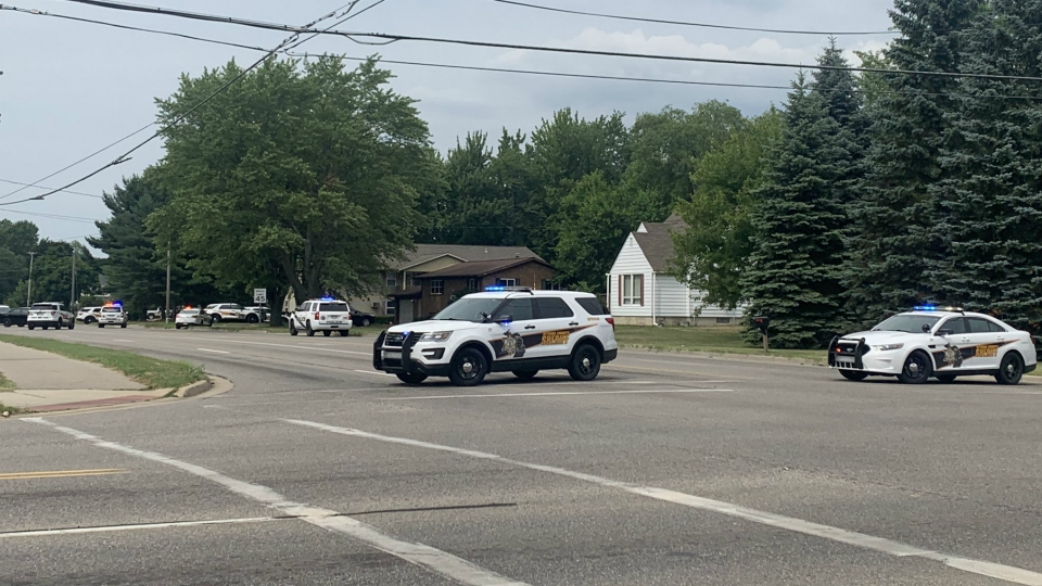 Authorities on the scene of a shooting in Holland Township on July 15, 2020.
