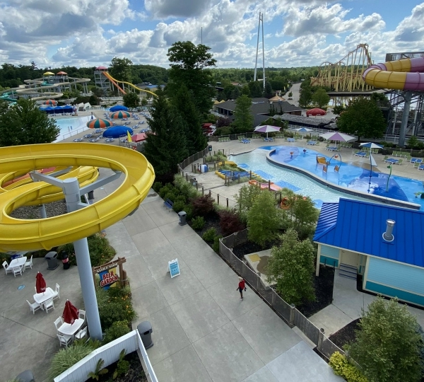 Michigan Adventures' water park on July 16, 2020.