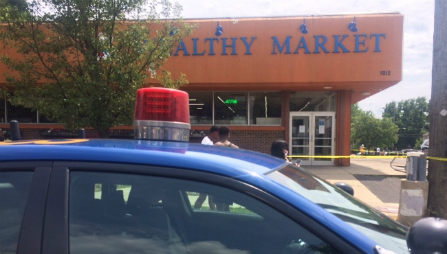 A shooting at the Wealthy Market in Grand Rapids on July 15, 2020.