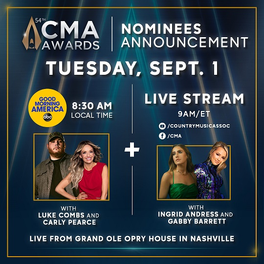 CMA Awards, 54th annual awards