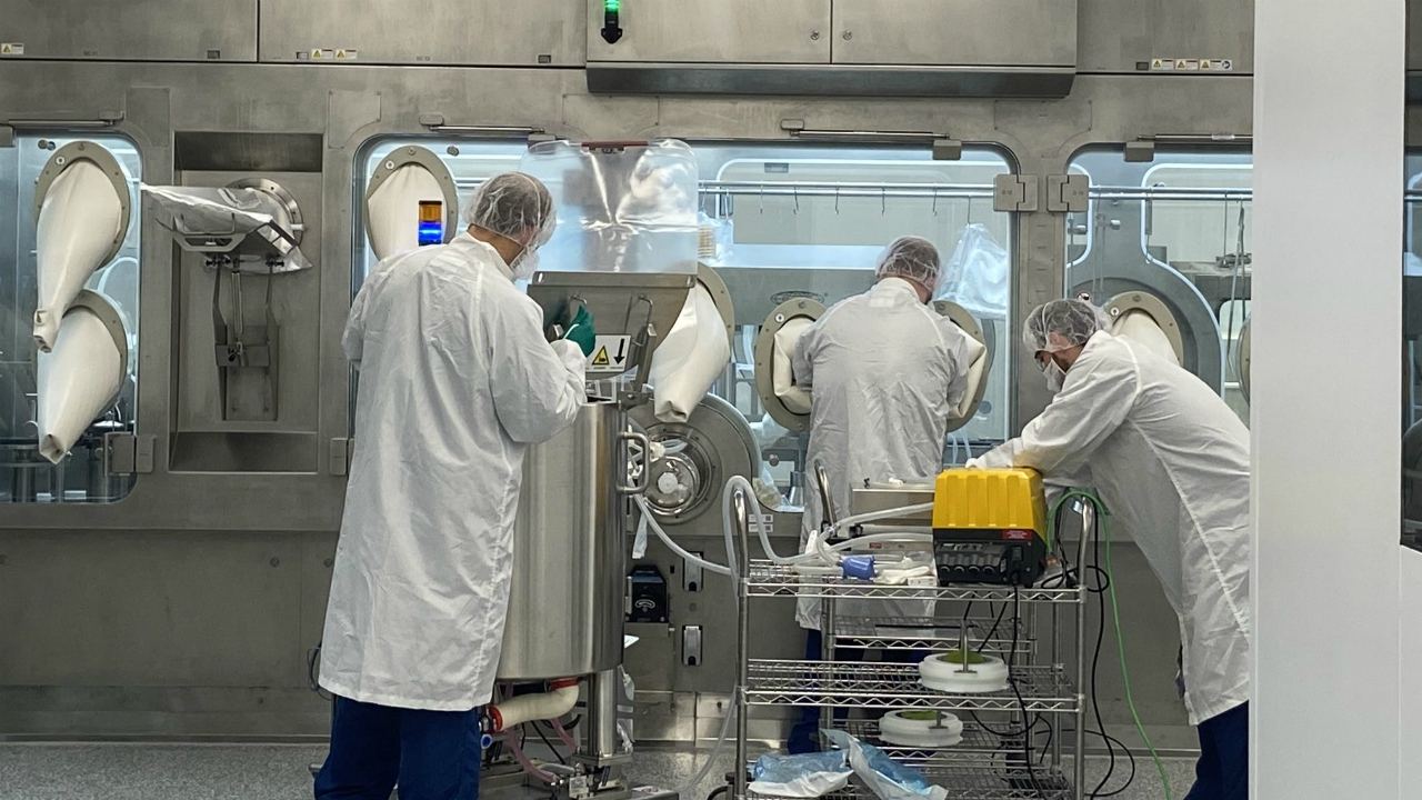 Inside Grand Rapids Aseptic Manufacturing on Aug. 6, 2020.