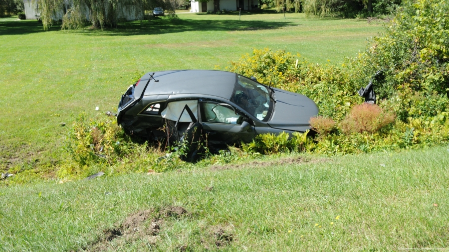 A photo of a fatal Covert Township crash on Sept. 19, 2020. (Courtesy of the South Haven Area Emergency Services)