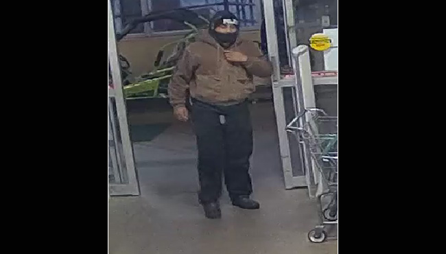 A suspect in an armed robbery of the Family Farm and Home on Cinema Way in Benton Township on Oct. 22, 2020.