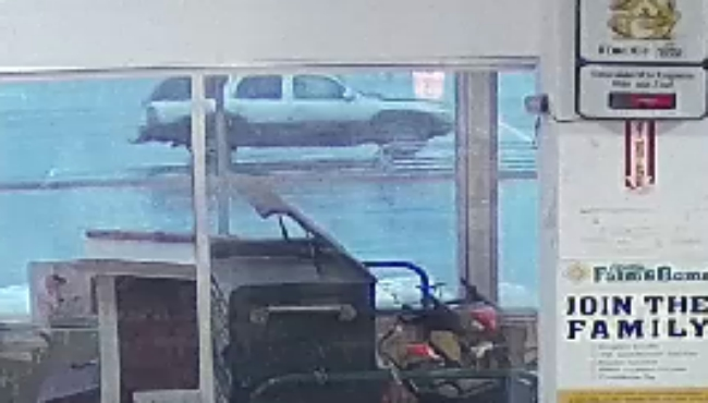 The suspect's vehicle in an armed robbery of the Family Farm and Home on Cinema Way in Benton Township on Oct. 22, 2020.