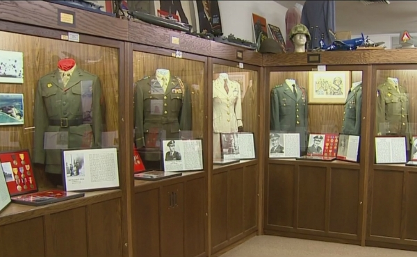 A photo inside the Michigan Heroes Museum in Frankenmuth.