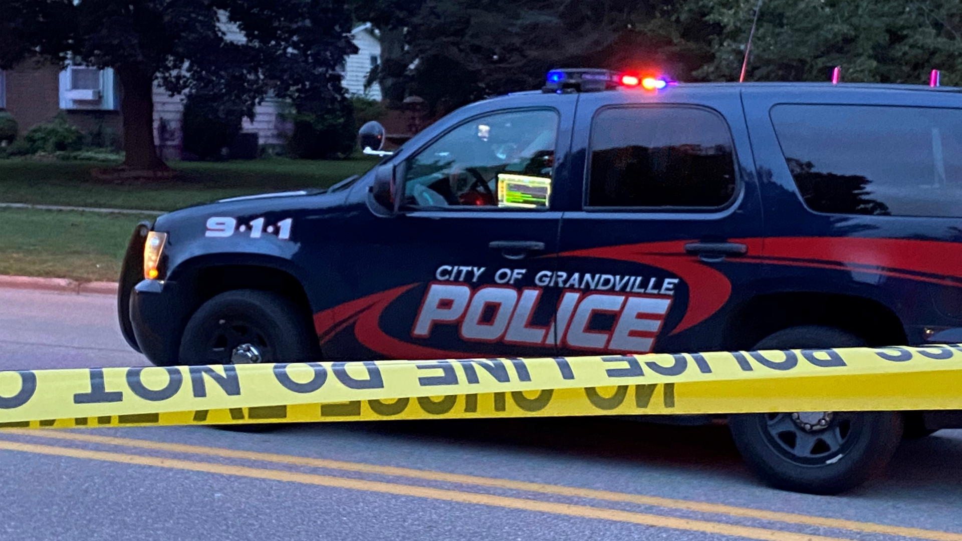 A photo of a shooting in Grandville on Oct. 10, 2020.