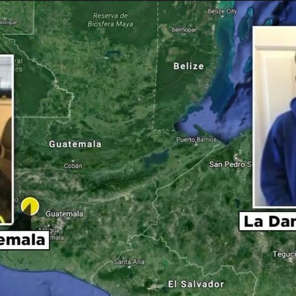 A map depicting Santos Reinaldo Padilla Banegas was from Honduras and Elmer Geovany Lopez Tol was fromGuatemala. (Dec. 28, 2020)