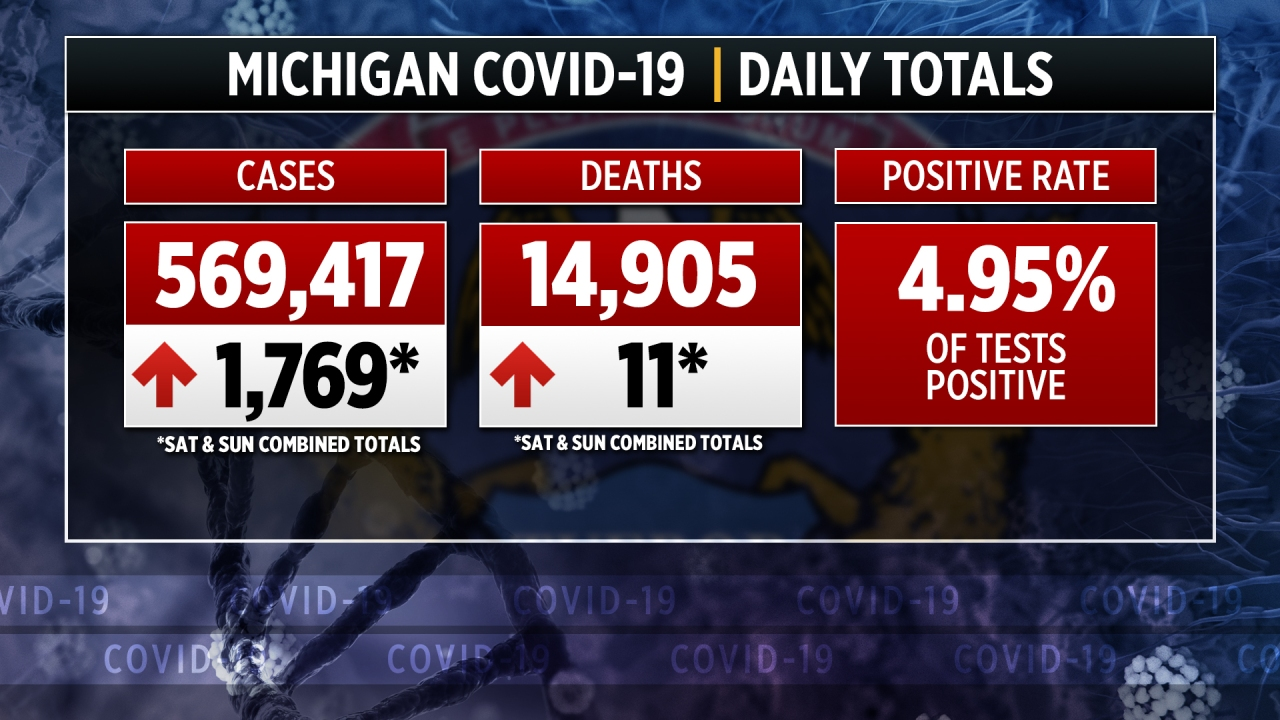 Michigan confirms about 1,800 virus cases over weekend - WOODTV.com