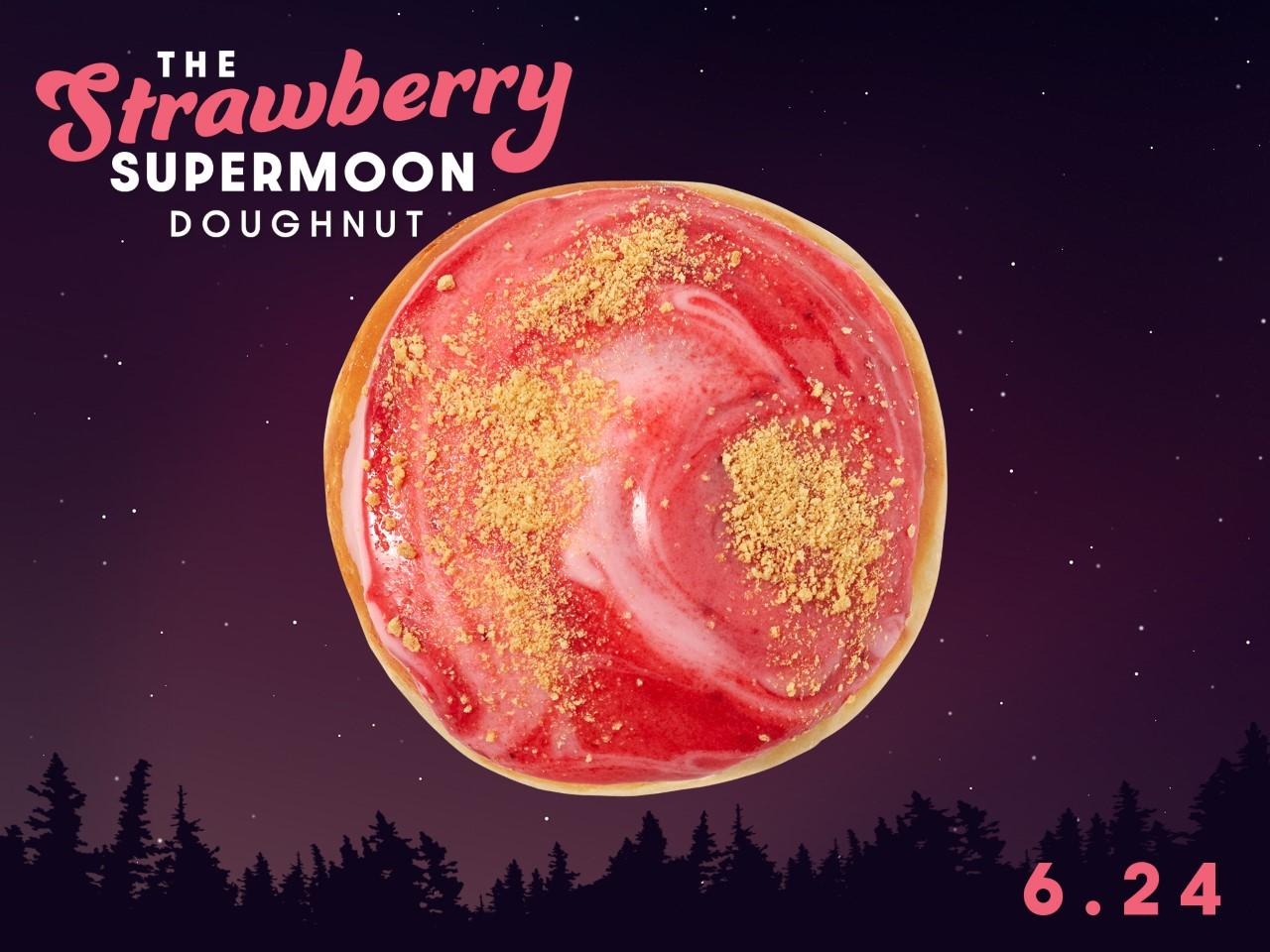 Krispy Kreme offers 1-day treat to enjoy during 'Strawberry' supermoon